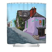 Kinsale Corner Shop Shower Curtain