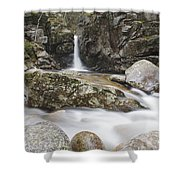 Kinsman Falls - Franconia Notch State Park New Hampshire Shower Curtain