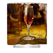 Kir Royale In A Champagne Glass Shower Curtain