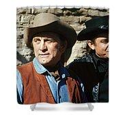 Kirk Douglas Johnny Cash A Gunfight  Old Tucson Arizona 1971 Shower Curtain