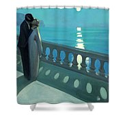 Kiss By Moonlight Shower Curtain