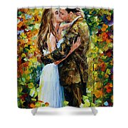 Kiss In The Woods Shower Curtain