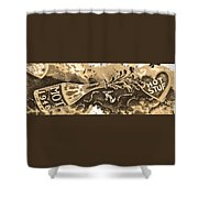 Kiss Me Hot Stuf In Sepia Shower Curtain