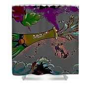 Kiss Me Hot Stuf Posterized Shower Curtain
