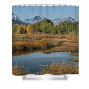 Kiss Of Fall In The Grand Tetons Shower Curtain