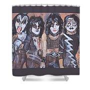 Kiss Rock Band Shower Curtain