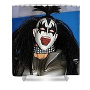Kiss-the Coat Of Armor Shower Curtain