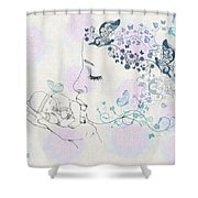 Kiss To A New Born Shower Curtain