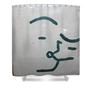 Kisses - Tile Shower Curtain