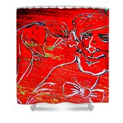 Kissing Couple Shower Curtain