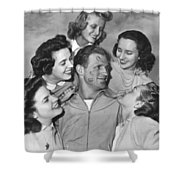 Kissoff For The Navy Shower Curtain