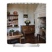 Kitchen At Chateau Villandry  Shower Curtain