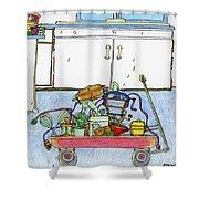 Kitchen Caddy Shower Curtain