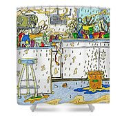 Kitchen Catastrophe Shower Curtain