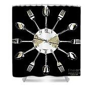 Kitchen Clock Shower Curtain