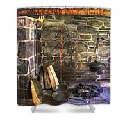 Kitchen - Colonial Pots And Pans Shower Curtain