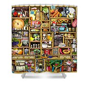 Kitchen Cupboard Shower Curtain by Colin Thompson
