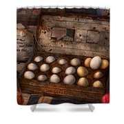 Kitchen - Food - Eggs - 18 Eggs  Shower Curtain