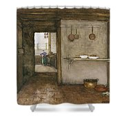 Kitchen Interior, C.1899 Shower Curtain