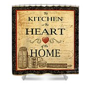 Kitchen Is The Heart Shower Curtain
