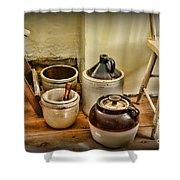 Kitchen Old Stoneware Shower Curtain by Paul Ward