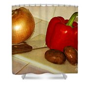Kitchen Prep Shower Curtain
