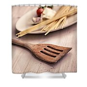 Kitchen Still Life With Pasta  Shower Curtain