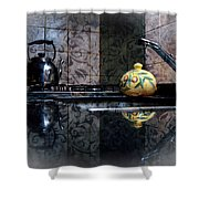 Kitchen Stove Shower Curtain