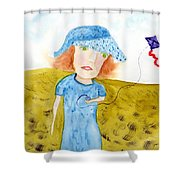Kite Flight Shower Curtain