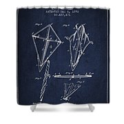 Kite Patent From 1892 Shower Curtain by Aged Pixel