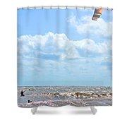 Kite Surfing Shower Curtain
