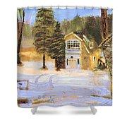 Kittattiny Park Ranger Residence Shower Curtain