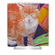 kittens With A Ball of Wool Shower Curtain