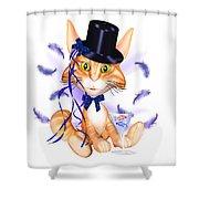 Kitticat Party Design Shower Curtain