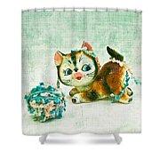 Kitty Mischief Shower Curtain