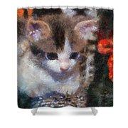 Kitty Photo Art 02 Shower Curtain