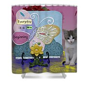 Kitty Says Wow Shower Curtain