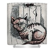 Kitty Sly Shower Curtain