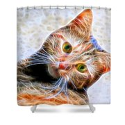 Kitty Strange Shower Curtain