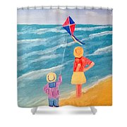 Kity Fly Shower Curtain