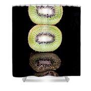 Kiwi On Black Shower Curtain