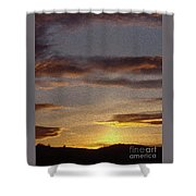 Klamath Golden Sunset Shower Curtain