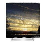 Klamath Lake Sunset Shower Curtain