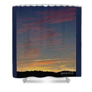 Klamath Summer Sunset Shower Curtain