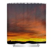 Klamath Sunset Of Fire Shower Curtain