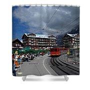 Kleine Schedegg Switzerland Shower Curtain