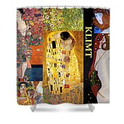 Klimt Collage Shower Curtain