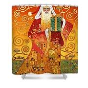 Klimt Santa Shower Curtain