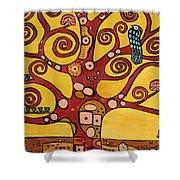 Klimt Study Tree Of Life Shower Curtain