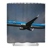 Klm Boeing 737 Ng Shower Curtain